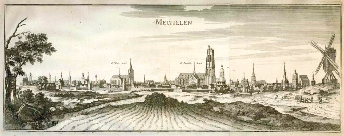 Engraving of Mechelen