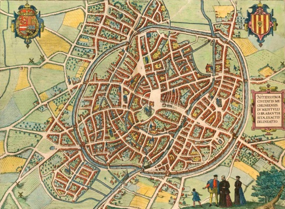 Map of 16th century Mechelen